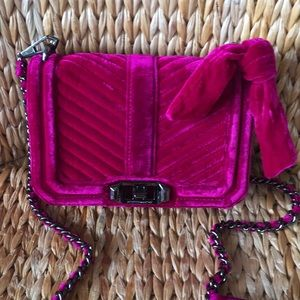 New Rebecca Minkoff Velvet Small Quilted Chain Bag